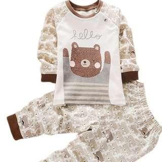 Elegant baby boy 2pcs set clothes 2018 ( Teddy Bear )