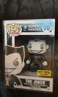 Funko pop hot topic black and white joker