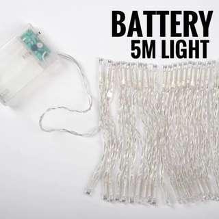 READY STK🔥 BATTERY: 5M Outdoor Fairy Light 🔥