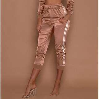 Meshki Joggers Rose Gold Satin