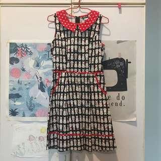Modcloth Cat Print Dress