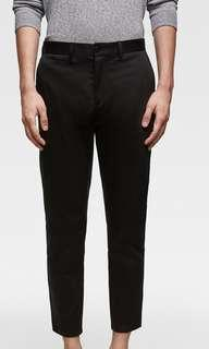 Zara Cropped Slim Fit Chino Pants