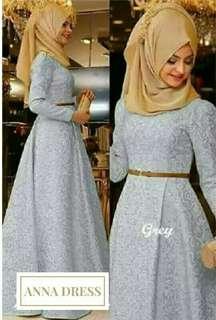 Anna Dress By Osah Kolok(grey colour)