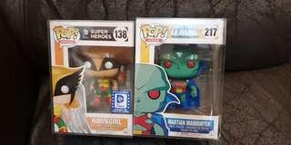 Funko pop hawkgirl Martian manhunter legion of collectors exclusive