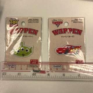 日本【Toy Story Pixar】刺繡燙章 $25一個 反斗車王 三眼仔