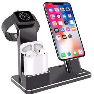 HK$168/1PC ~ 3 in 1 Metal Aluminum Charging Dock for Apple AirPods Watch iPhone