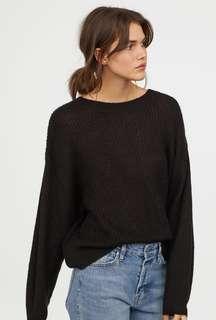 Black Knitwear Sweater