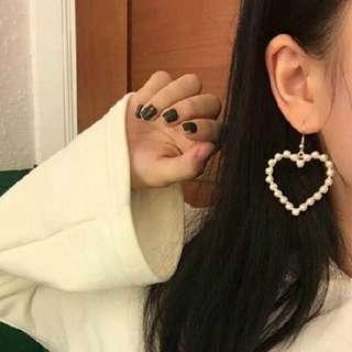 Korean Gold Heart Earring