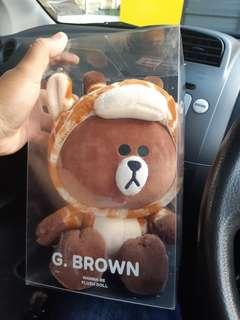 Line Friends G Brown Wanna Be Plush Doll