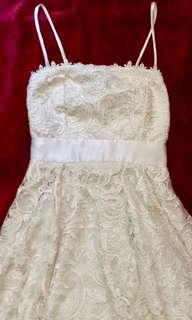 White Cocktail Lace Dress