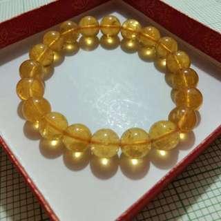 水晶手鏈 黃磷灰石 透體