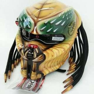 Predator yellow motorbike helmet with DOT approved