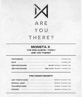 MONSTA X 2nd Album- Take.1 Are You There?