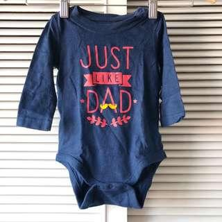 Baby Gap Just Like Dad Onesie