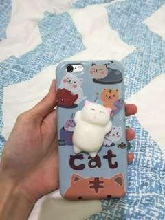 preloved iPhone 6 case squishy cat kucing lucu