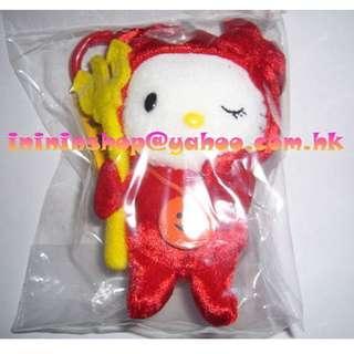 全新購自日本 原裝Sanrio Hello Kitty 紅魔鬼單眼公仔匙扣 包郵