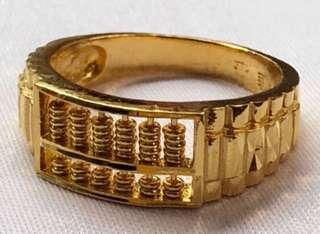 999 Abacus Design Gold Ring ✅