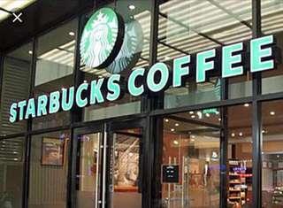 $10 Starbucks E voucher