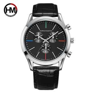 Hannah Martin Japan Quartz Movement Business Men Watches Watch