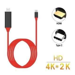 USB 3.1 Type C USB-C to 4K HDMI HDTV Adapter Cable