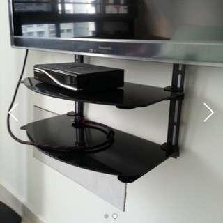 None drill tv shelves