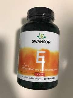 Swanson SW141 250粒 Swanson Premium Vitamin E - Natural 400IU 天然維他命E