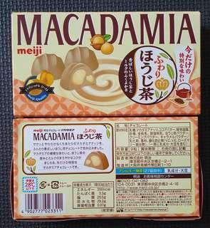 🚚 現貨 日本明治夏威夷果仁巧克力 期間限定煎茶口味 meiji macadamia