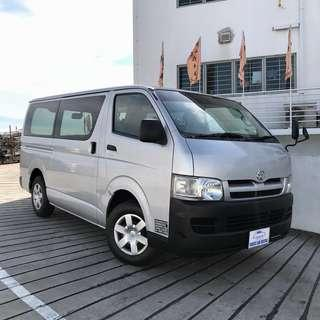 Toyota Hiace Van Rental