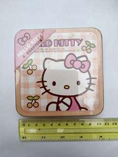 Hello Kitty 杯墊 4個