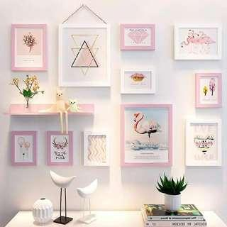 PINK GALLERY SET WITH SHELF