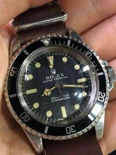 勞力士 Rolex Submariner 5513 一期面 200頭 1.5M 5512 1680 1665