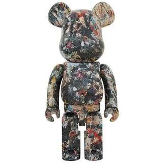 Jackson Pollock version 2 1000% Bearbrick