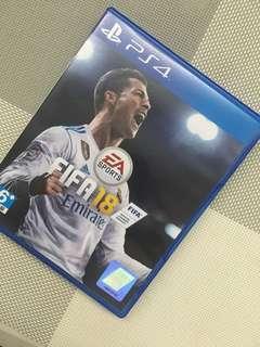 PS4 FIFA18 90% New