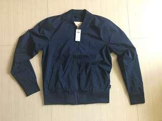 Hollister jacket 全新深藍色外套 風褸 bomber jacket