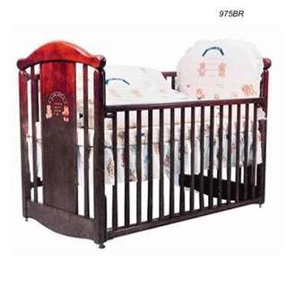 975BR - LA Baby嬰兒床連海馬床褥 + 送貨上門,只需$2,250 (19/10前訂購)