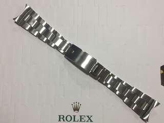 罕有 勞力士 7835 夾帶 Rolex Folded Bracelet 19 mm 適合 Date air king daytona 6694