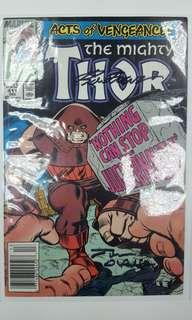 Mighty Thor #411 (1989 1st Series)Double Signatures By Writer Tom DeFalco & Artist Ron Frenz,With C.O.A! Classic Thor Vs Juggernaut Battle! 1st Appearance of The New Warriors! Key Issue, Awesomely Awesome!