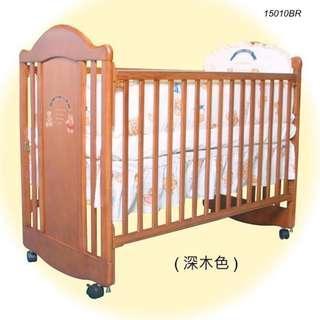 15010BR/15010WR - LA Baby嬰兒床連海馬床褥 + 送貨上門,只需$1,935 (19/10前訂購)