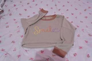 Sweater smile croptee