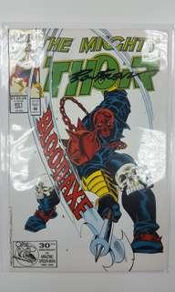 Mighty Thor #451 (1992 1st Series) Signed By Artist Ron Frenz, with C.O.A! Thor Vs Bloodaxe! Homage Cover To 1st Appearance Of Beta Ray Bill!