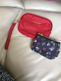 日本雜誌多功能收纳袋 手挽方便包+零钱包