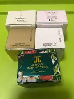 $30/1 包郵 sample sulwhasoo bb perfecting cushion 雪花秀 dior capture totale dream skin amore pacific time response sleeping masque mask brightening cream creme jayjun anti dust intensive