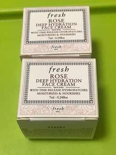 $80/2 包郵 fresh sample deep hydrating face cream  面霜