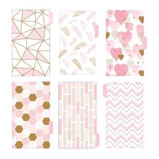 🚚 6 pcs Cute Pink Planner Divider