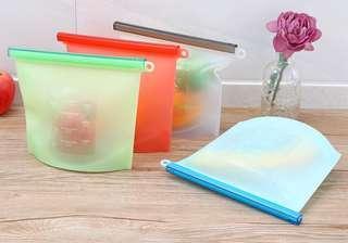 全新 環保 矽膠 真空保鮮 密實袋 1000毫升
