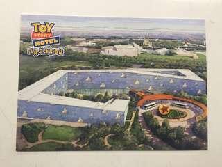 上海迪士尼 玩具總動員酒店 post card