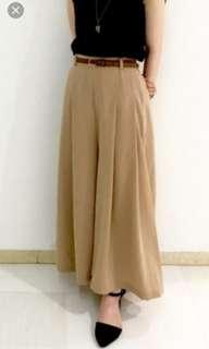 Uniqlo gu pleated wide pant or culottes