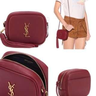 YSL monogram blogger shoulder bag