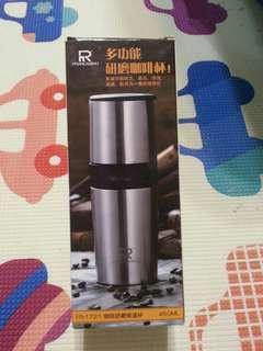 咖啡研磨保溫杯