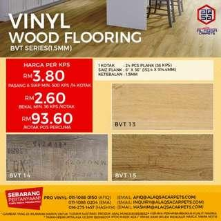 Wood vinyl flooring is a good choice when style and durability are needed.